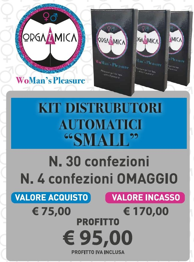 ORGAZMICA GEL WOMAN'S PLEASURE 34pz KIT DISTRIBUTORE SMALL