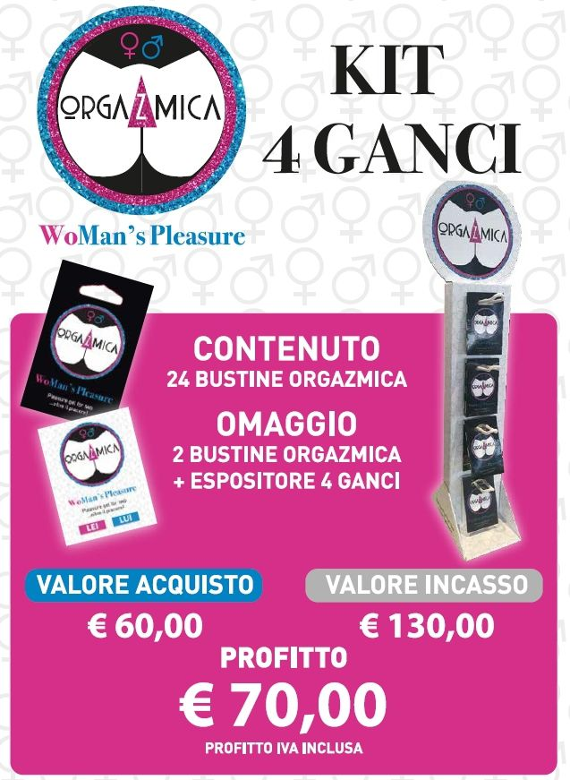 ORGAZMICA GEL WOMAN'S PLEASURE 26pz BUSTINA + EXPO DA BANCO
