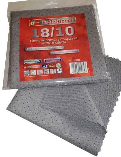 PANNO MICROFIBRA COAGULATA 1x3pz 40x40cm PER INOX E CROMATURE