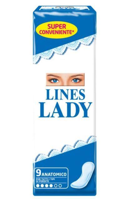 ASSORBENTI LINES LADY ANATOMICO DIST. 9pz