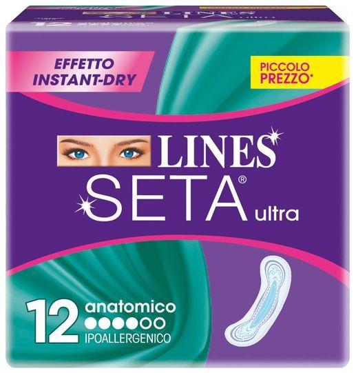ASSORBENTI LINES SETA ULTRA ANATOMICO 1x12pz VERDE (LIN039)
