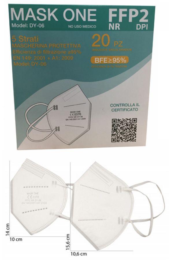 MASCHERINE FFP2 PICCOLA SMALL BIANCA 20pz (blister singolo) - CE0370