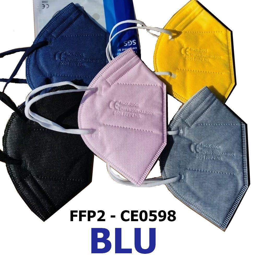MASCHERINE FFP2 BLU 20pz (blister singolo) - CE0598  DPI