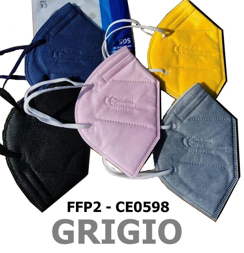 MASCHERINE FFP2 GRIGIO 20pz (blister singolo) - CE0598  DPI