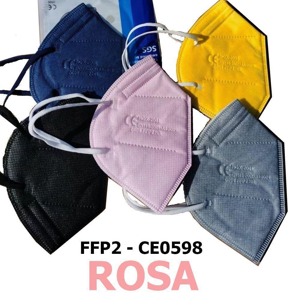 MASCHERINE FFP2 ROSA 20pz (blister singolo) - CE0598  DPI