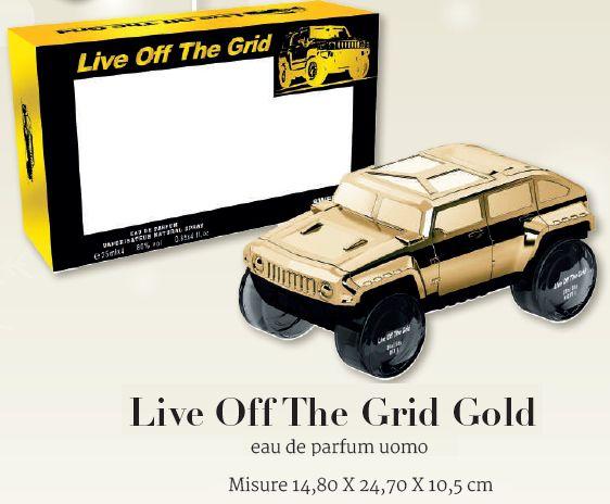 COFANETTO A PROFUMO SOLE UOMO LIVE GRID GOLD 1pz 25ml - Misure 14,80 X 24,70 X 10,5 cm