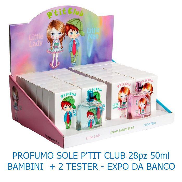 PROFUMO SOLE P'TIT CLUB 28pz BAMBINI 50ml + 2 TESTER - EXPO DA BANCO