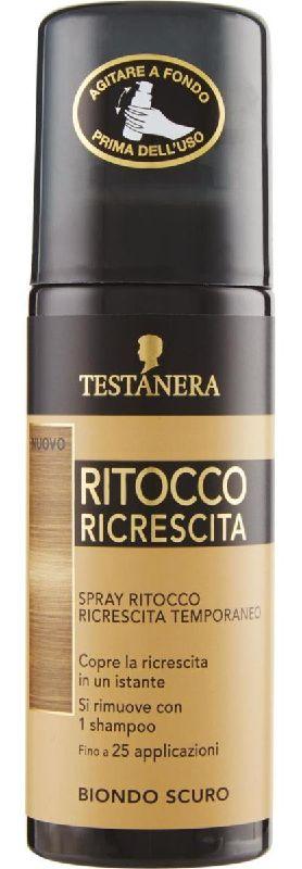 TINTA SPRAY CAPELLI TESTANERA RITOCCO RICRESCITA 120ml BIONDO SCURO