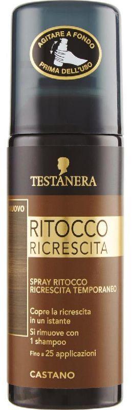 TINTA SPRAY CAPELLI TESTANERA RITOCCO RICRESCITA 120ml CASTANO
