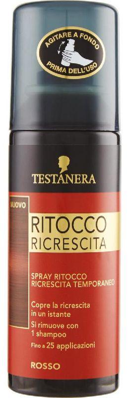 TINTA SPRAY CAPELLI TESTANERA RITOCCO RICRESCITA 120ml ROSSO