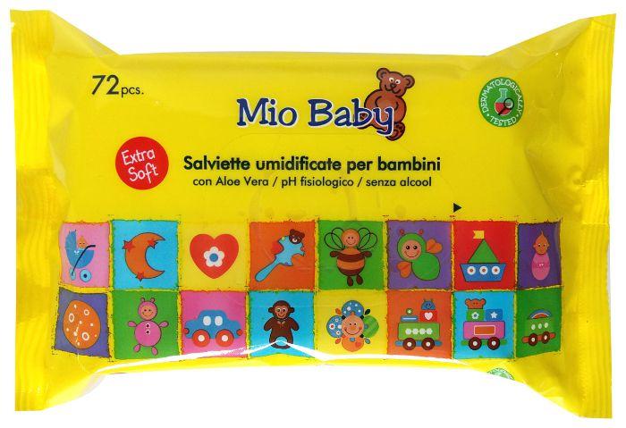 SALVIETTE MIO BABY x72 GIALLA 1pz