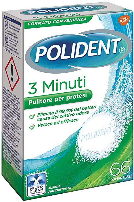 POLIDENT PULIZIA COMPRESSE x36 - 3 MINUTI VERDE
