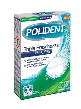 POLIDENT PULIZIA COMPRESSE x36 TRIPLA FRESCH