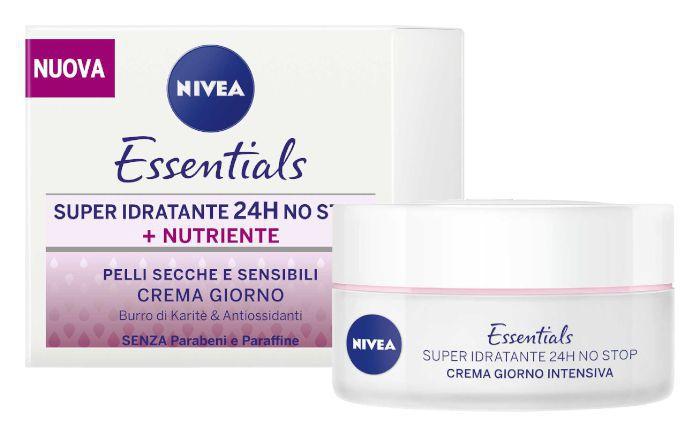 CREMA NIVEA VISO ESSENTIALS IDR NUTR 50ml C6x26 SEC/SEN ROSA
