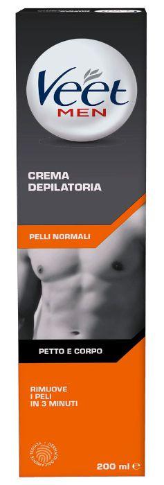 DEPILAZIONE VEET CREMA TB 200 UOMO SILK FRESH C6x20x10 3019073+