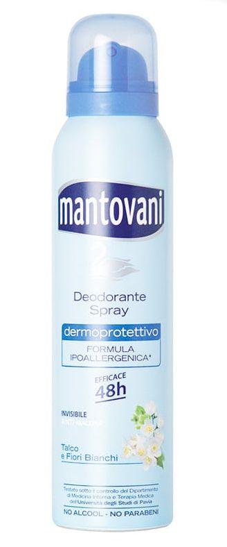 DEODORANTE MANTOVANI SPRAY VERDE 1pz 150ml TALCO FIORI