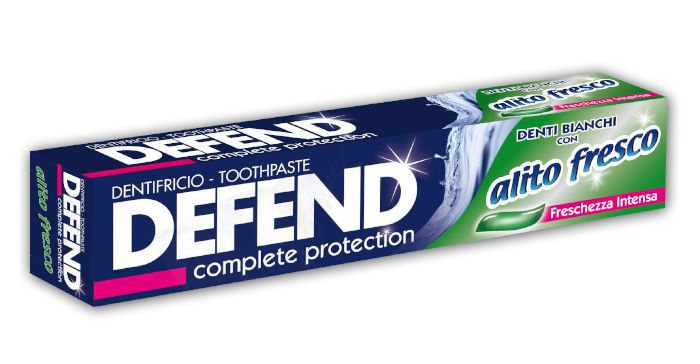 DENTIFRICIO DEFEND ALITO FRESCO 75ml 1pz BLU VERDE