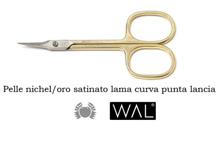 FORBICE WAL FORBICE 606 PELLE ORO 1pz LAMA CURVA PROFESSIONAL