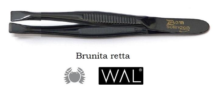 PINZA PINZETTA BRUNITA 306R RETTA 1pz WAL