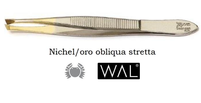 PINZA PINZETTA NICHEL ORO 321 OBLIQUA STRETTA 1pz WAL