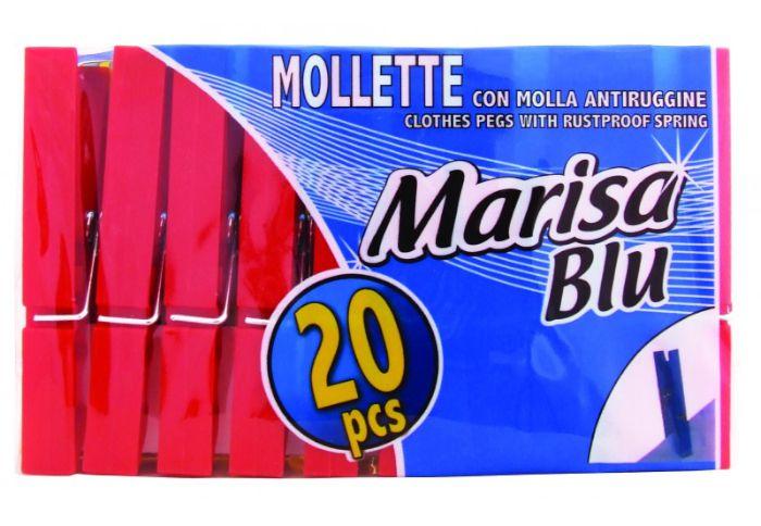 MOLLETTA BUCATO 20pz PLASTICA COLOR - C28
