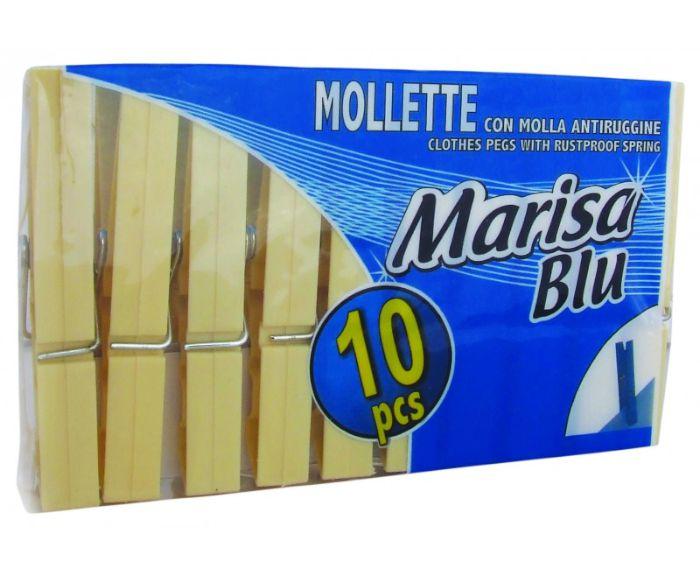 MOLLETTA BUCATO 10pz PLASTICA AVORIO - C28