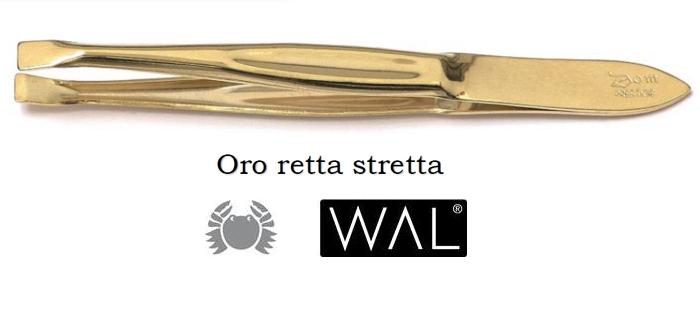 PINZA PINZETTA ORO 309S RETTA STRETTA 1pz WAL
