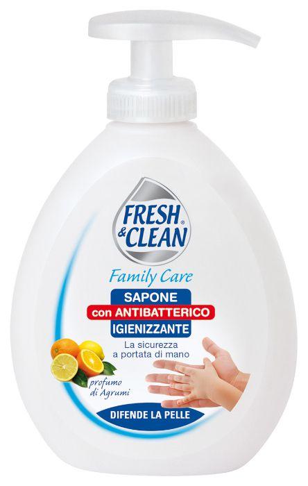 SAPONE LIQUIDO FRESH CLEAN 300ml IGIENIZZANTE CON ANTIBATTERICO 1pz - C12