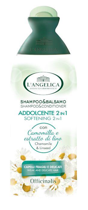 SHAMPOO ANGELICA 250ml 2/1 ADDOLCENTE FRAGILI DELICATI 1pz - C12