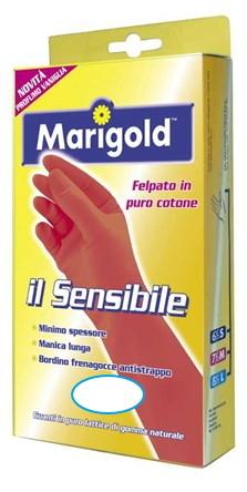 GUANTI GOMMA SENSIBILE 1pz  - MIS. 6,5 PICCOLO MARIGOLD