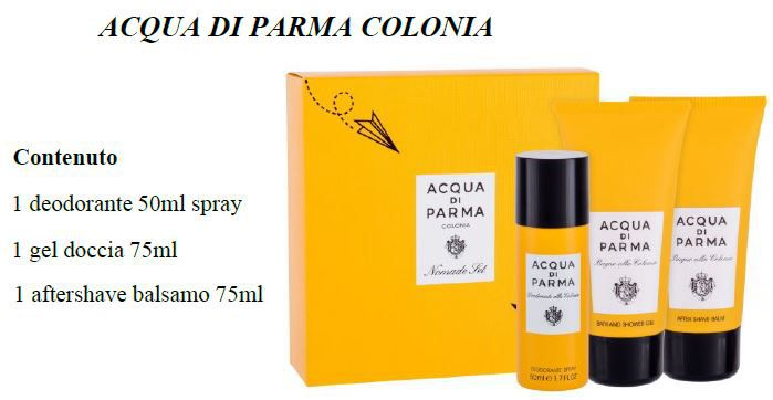 COFANETTO ACQUA PARMA COLONIA COF TRAVEL doc-balm 75+deos 50