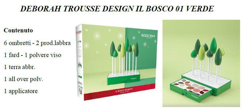 COFANETTO DEBORAH TROU  DESIGN IL BOSCO 01 VERDE C4