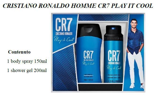 COFANETTO CR7 PLAY COOL H COF BODY SPRAY 150+SHOWER 200 C6