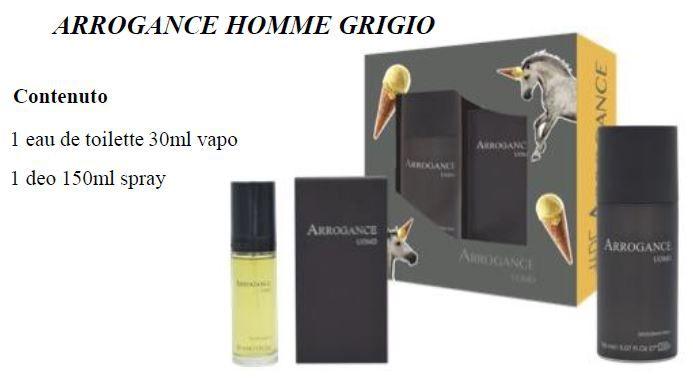 COFANETTO ARROG GRIGIO H COF etv  30+deos 150/677183 C3$