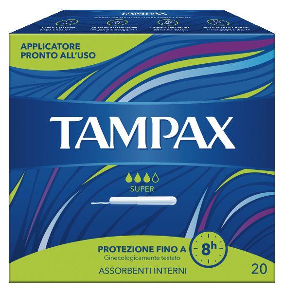 ASSORBENTI INTERNO TAMPAX SUPER 1 x 20pz - VERDE - 010450