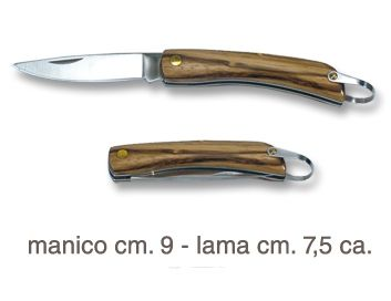 COLTELLO STRIPE SHAPED 1pz MANICO LEGNO STRIATO
