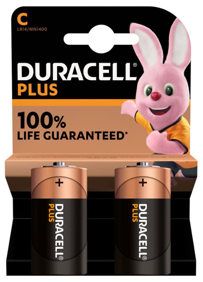 BATTERIE DURACELL PLUS C 1/2 TORCIA MN1400 1.5v 2x1pz PLUS POWER