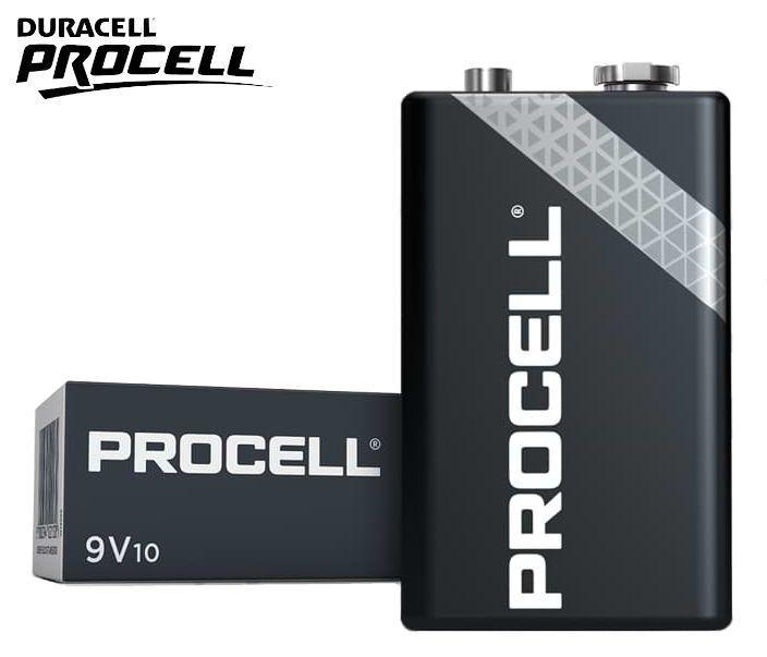BATTERIE DURACELL PROCELL 9v TRANSISTOR MN1604 10pz