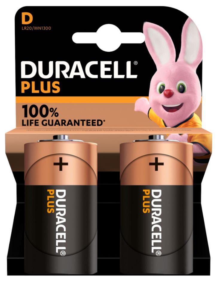 BATTERIE DURACELL PLUS D TORCIA MN1300 1.5v 2x1pz PLUS POWER