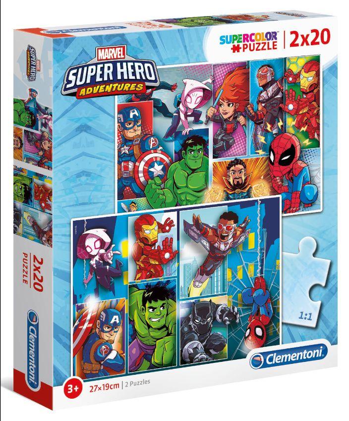 GIOCHI PUZZLE 2X20pz SUPERHERO