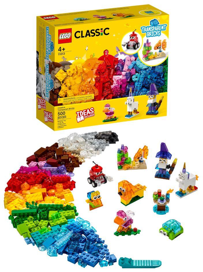 GIOCHI LEGO MATTONCINI TRASPARENTI CREATIVI