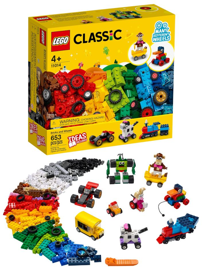 GIOCHI LEGO MATTONCINI E RUOTE