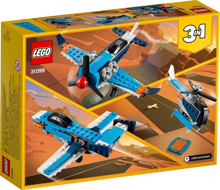 GIOCHI LEGO AEREO A ELICA 1pz