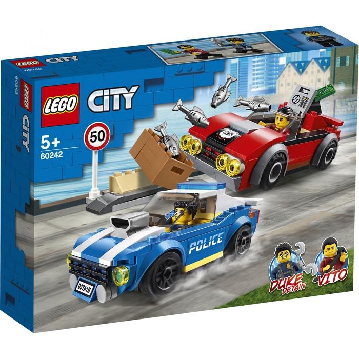 GIOCHI LEGO ARRESTO SU STRADA DELLA POLIZIA 1pz