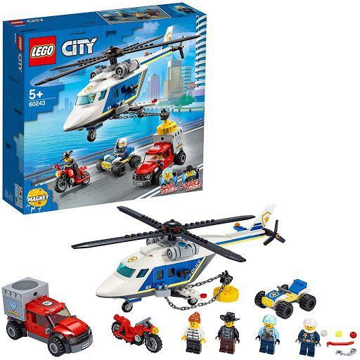 GIOCHI LEGO INSEGUIMENTO SULL'ELICOTTERO