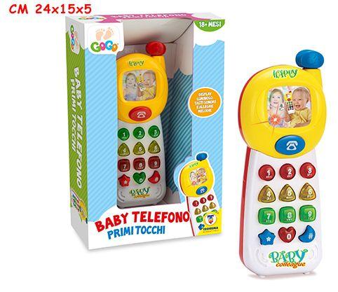 GIOCHI BABY TELEFONO C/LUCI E SUONI 1pz
