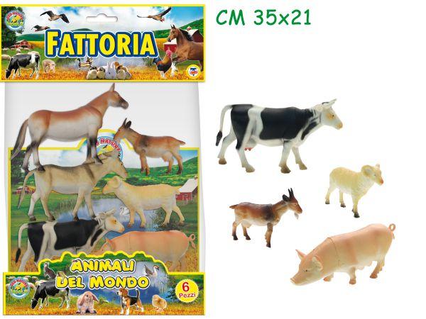GIOCHI ANIMALI FATTORIA 6pz TEOREMA