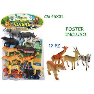GIOCHI BUSTA ANIMALI SAVANA 1x12pz