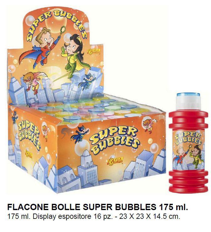 GIOCHI BOLLE SAPONE MAXI 16pz 175ml SUPER BUBBLES