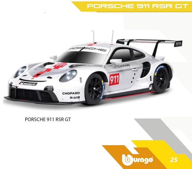 GIOCHI AUTO 1:24 PORSCHE 911 RSR GT 1pz